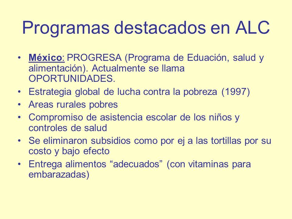 Programas destacados en ALC