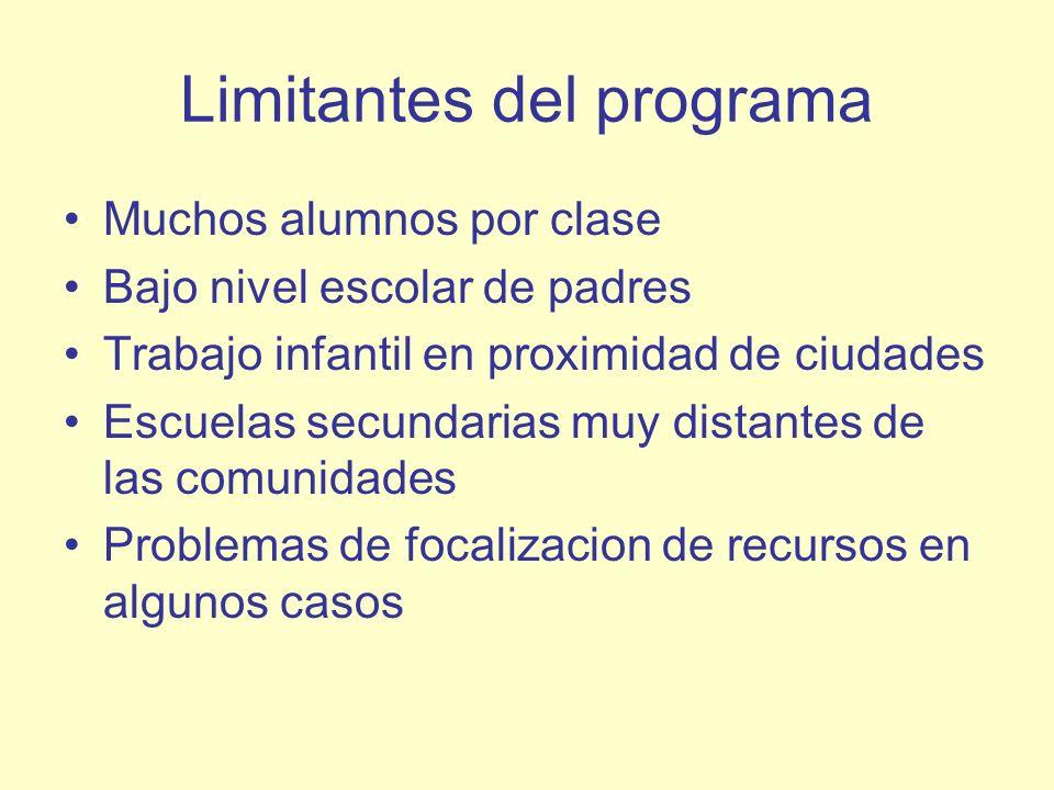 Limitantes del programa