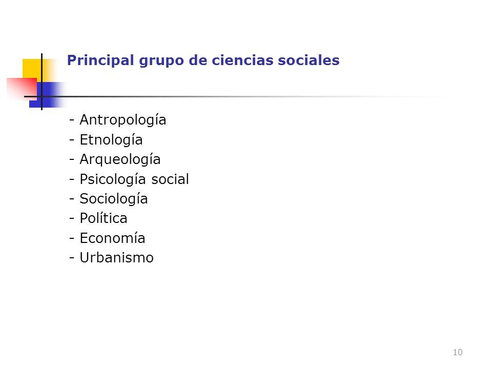 Principal grupo de ciencias sociales