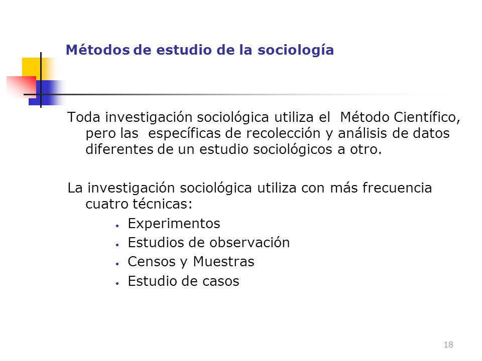 Métodos de estudio de la sociología