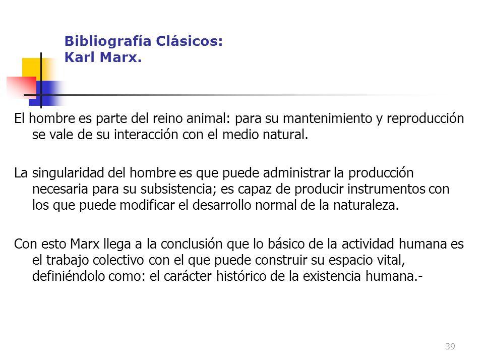 Bibliografía Clásicos: Karl Marx.