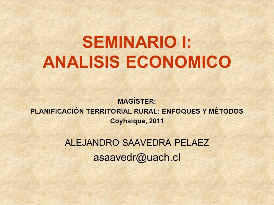 SEMINARIO I: ANALISIS ECONOMICO