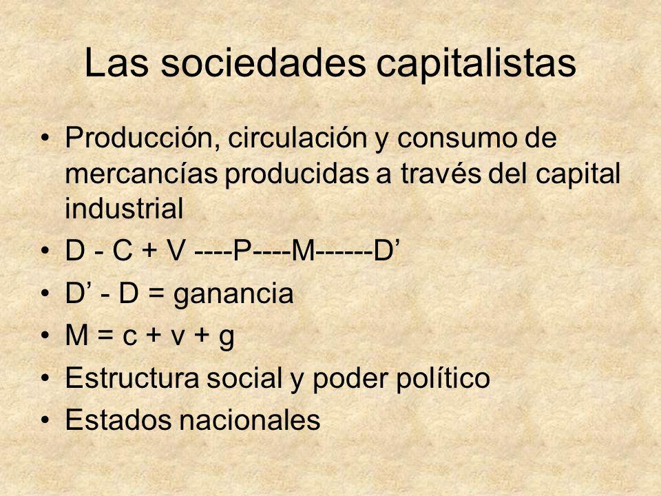 Las sociedades capitalistas
