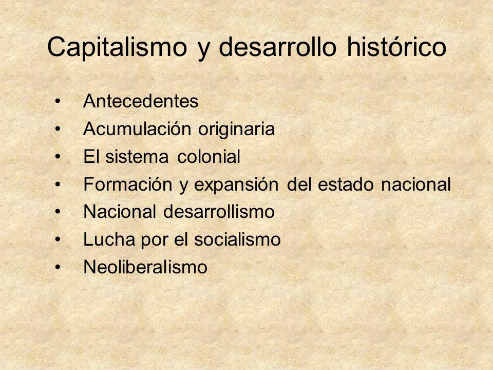 Capitalismo y desarrollo histórico