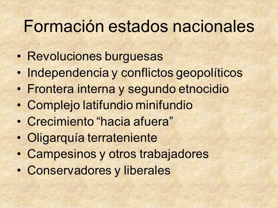Formación estados nacionales