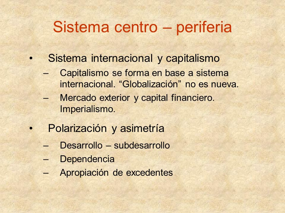 Sistema centro – periferia