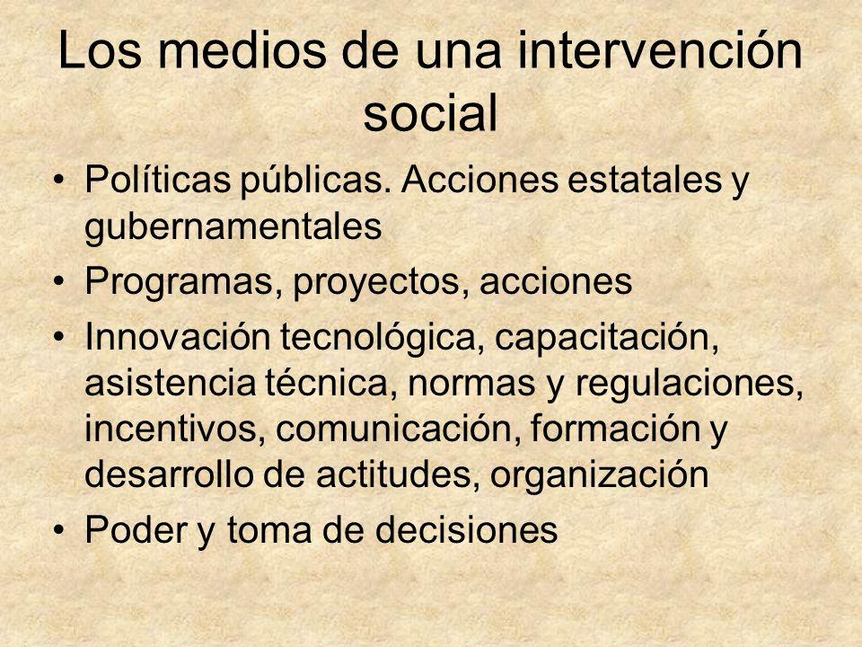 Los medios de una intervención social