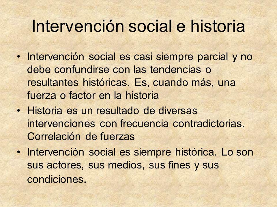 Intervención social e historia