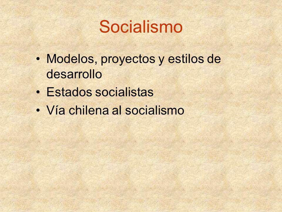Socialismo Modelos, proyectos y estilos de desarrollo
