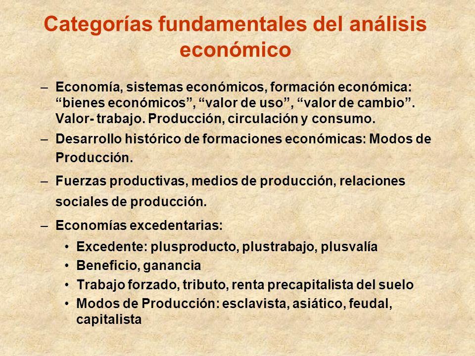 Categorías fundamentales del análisis económico