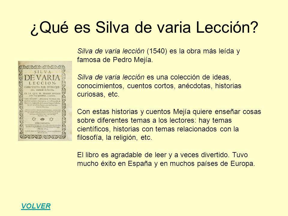 ¿Qué es Silva de varia Lección