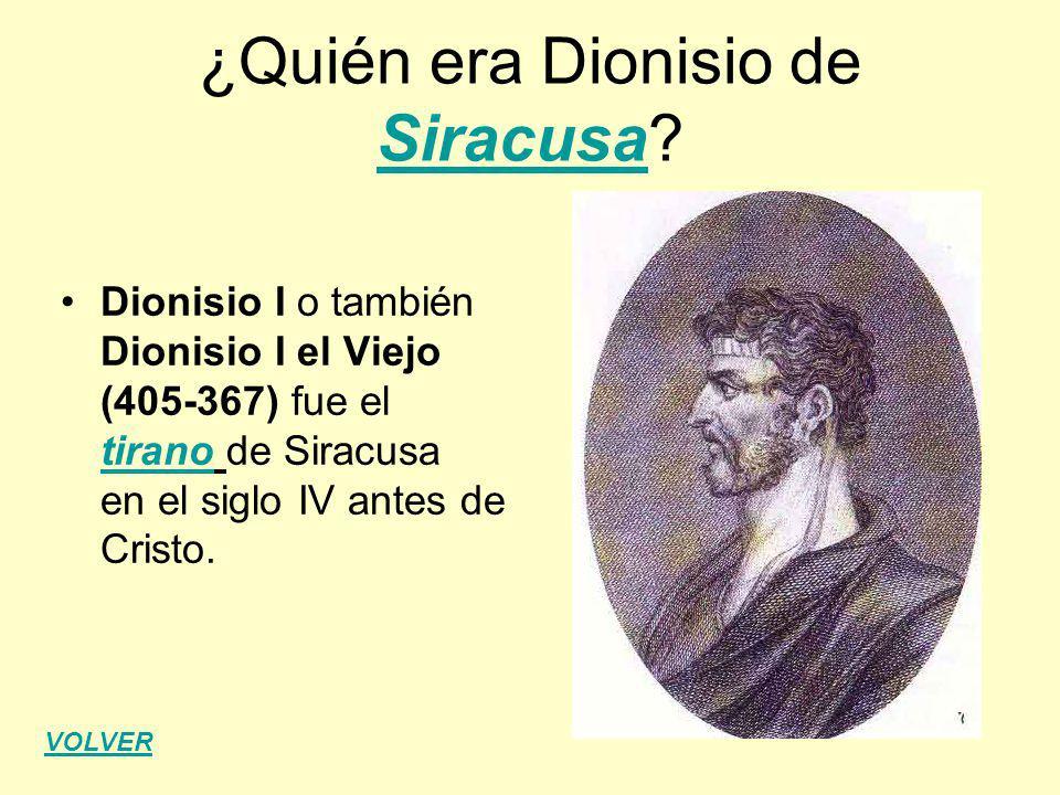 ¿Quién era Dionisio de Siracusa