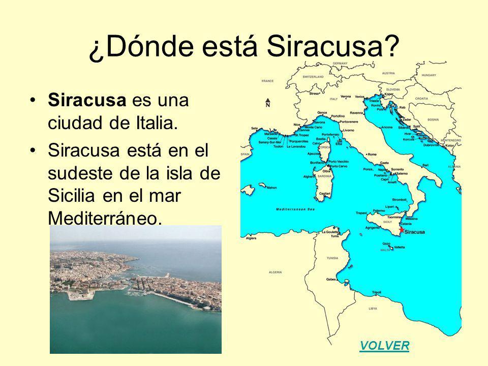 ¿Dónde está Siracusa Siracusa es una ciudad de Italia.