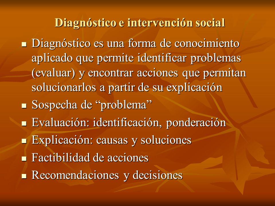 Diagnóstico e intervención social