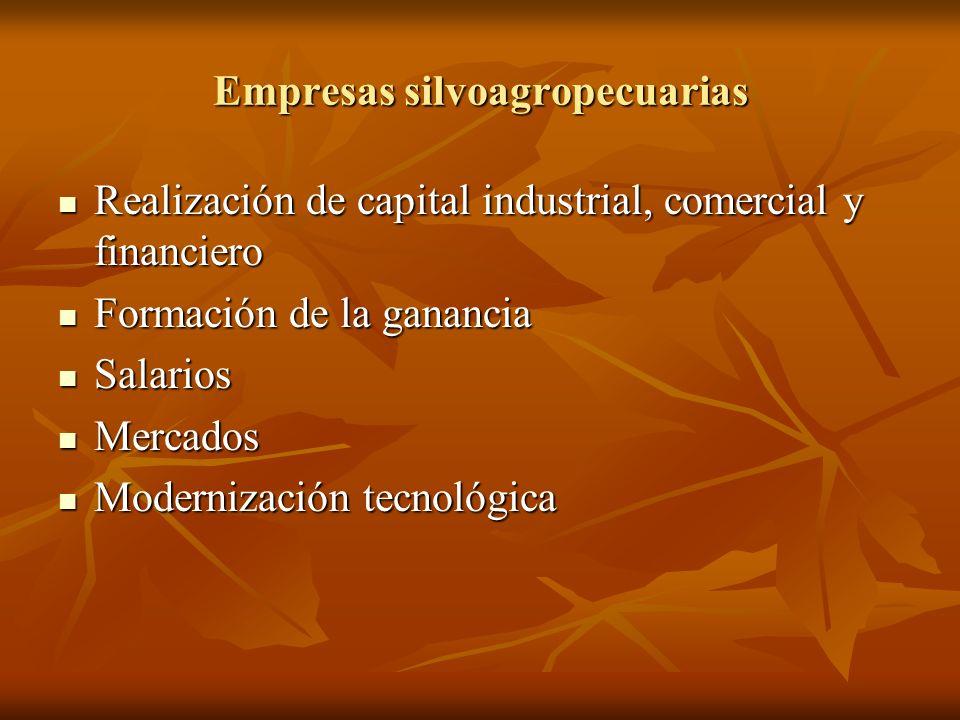 Empresas silvoagropecuarias