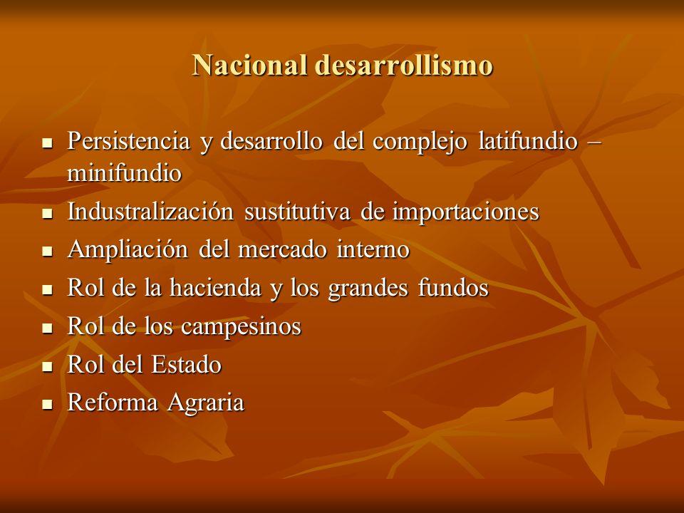 Nacional desarrollismo