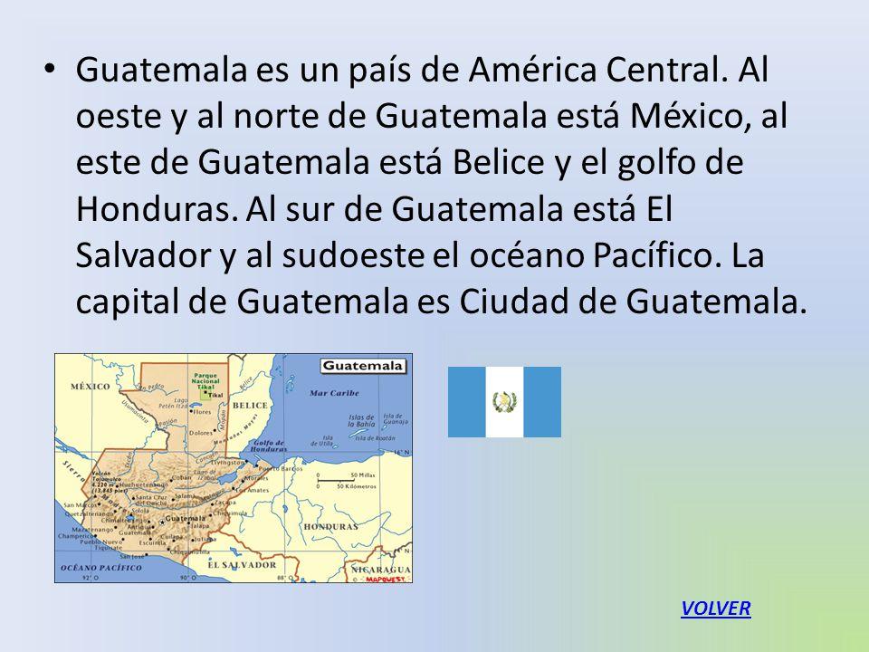 Guatemala es un país de América Central