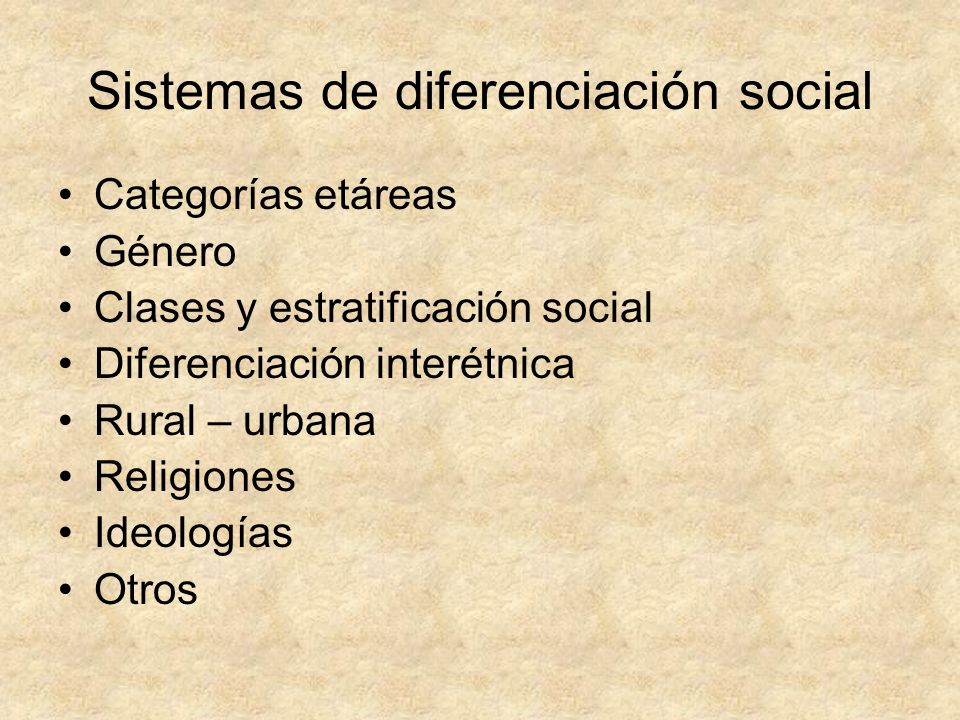 Sistemas de diferenciación social
