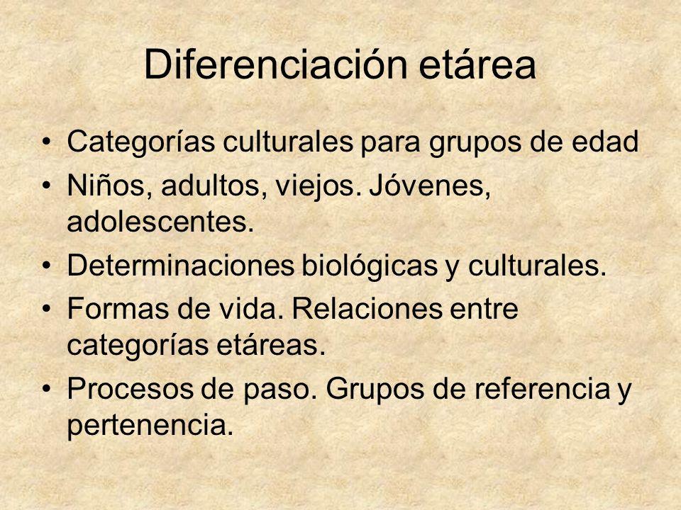 Diferenciación etárea