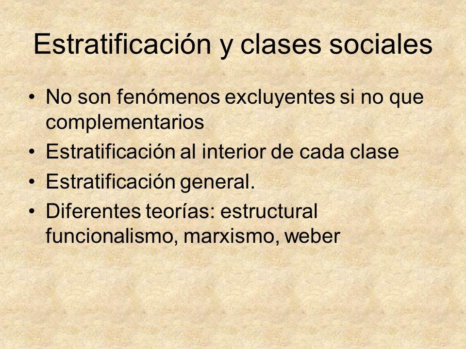 Estratificación y clases sociales