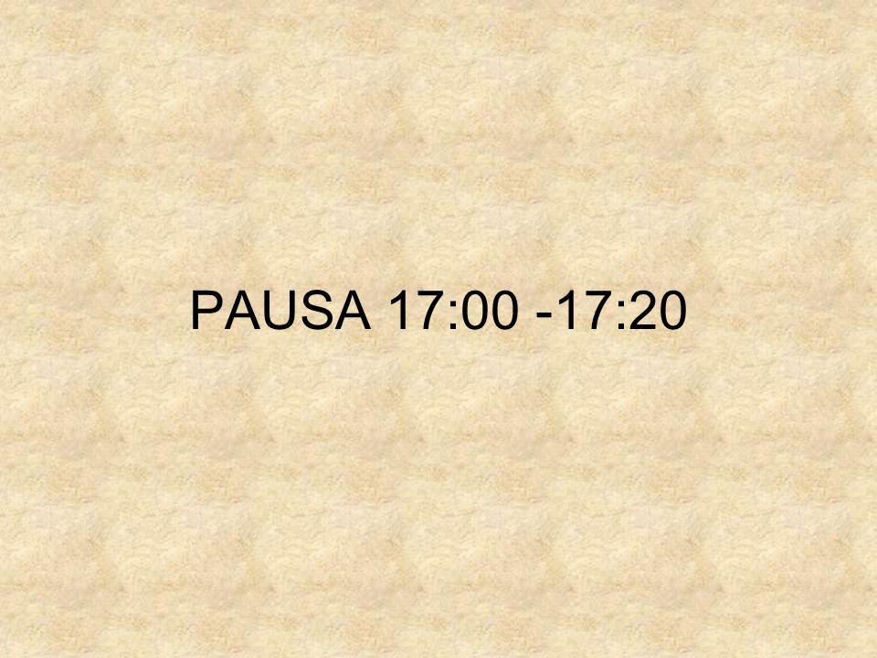 PAUSA 17:00 -17:20