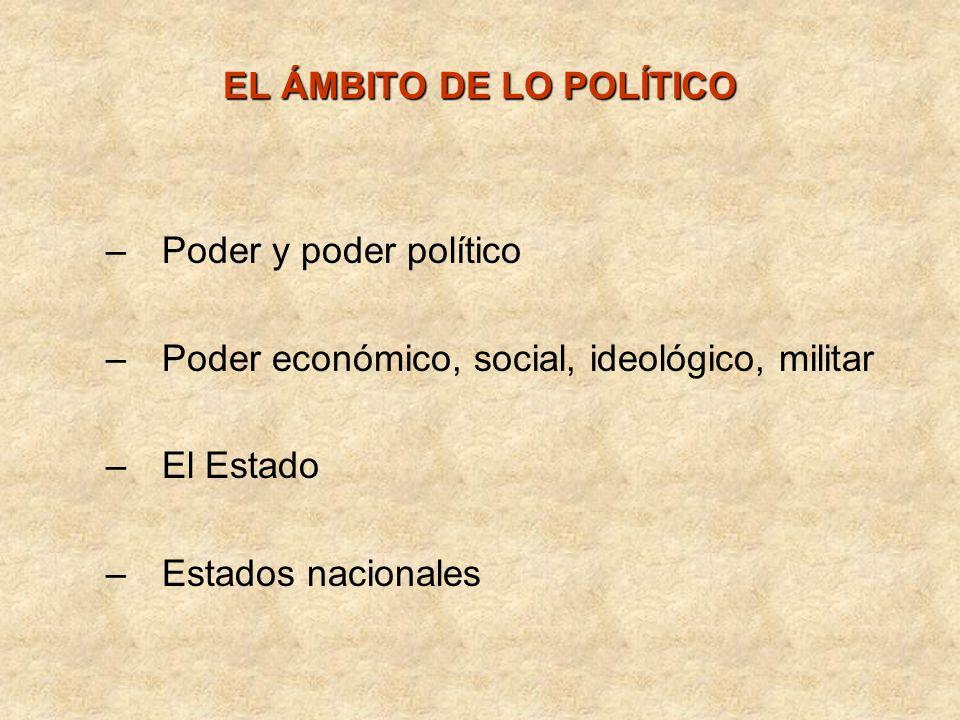 EL ÁMBITO DE LO POLÍTICO
