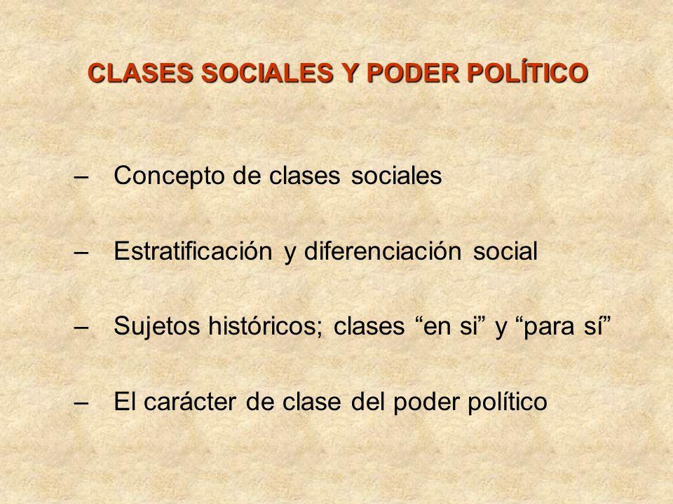 CLASES SOCIALES Y PODER POLÍTICO