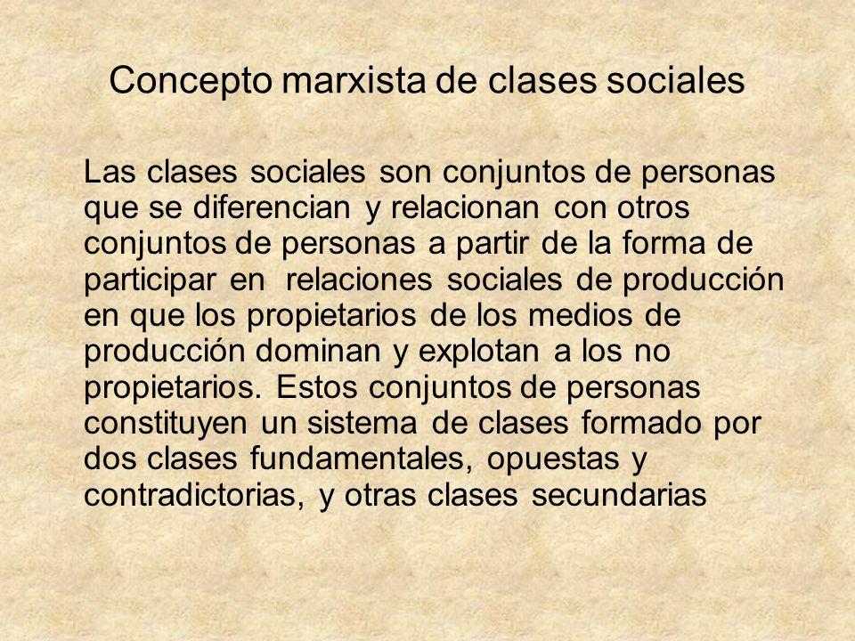 Concepto marxista de clases sociales