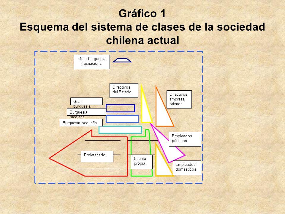 Gráfico 1 Esquema del sistema de clases de la sociedad chilena actual