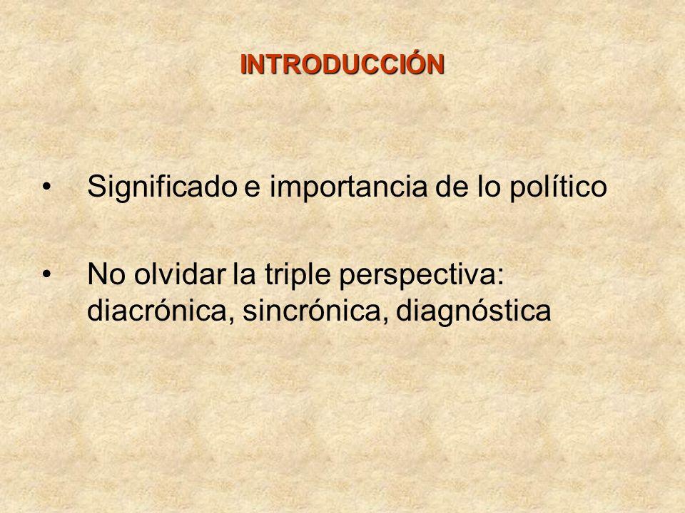 Significado e importancia de lo político