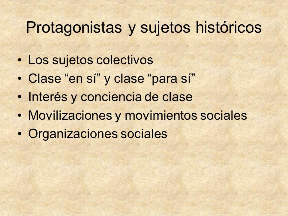 Protagonistas y sujetos históricos