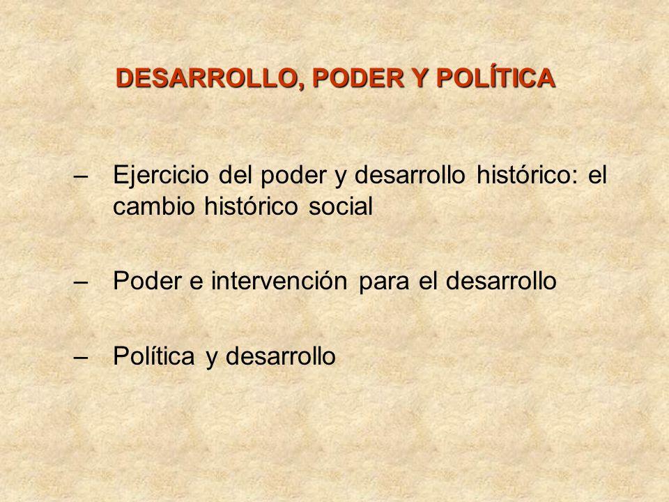 DESARROLLO, PODER Y POLÍTICA