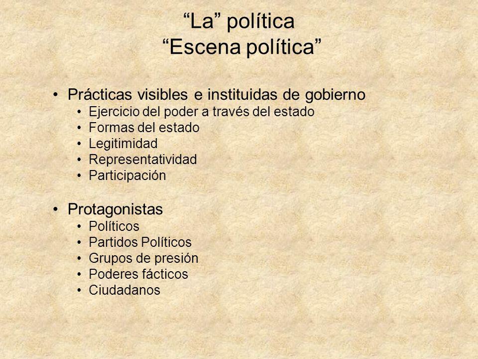 La política Escena política