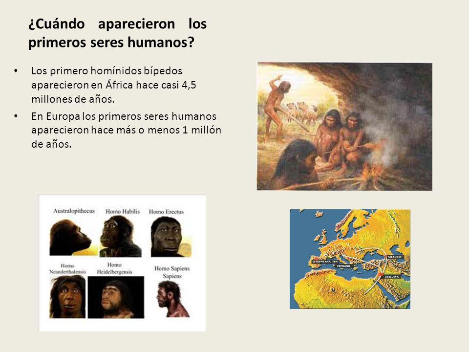 ¿Cuándo aparecieron los primeros seres humanos