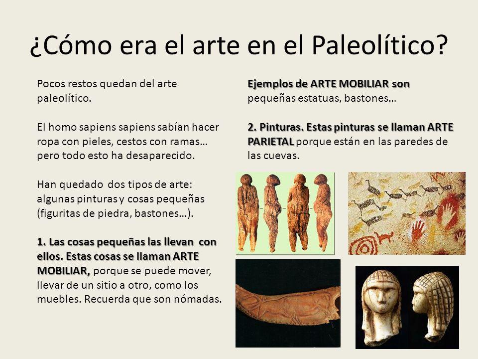 ¿Cómo era el arte en el Paleolítico