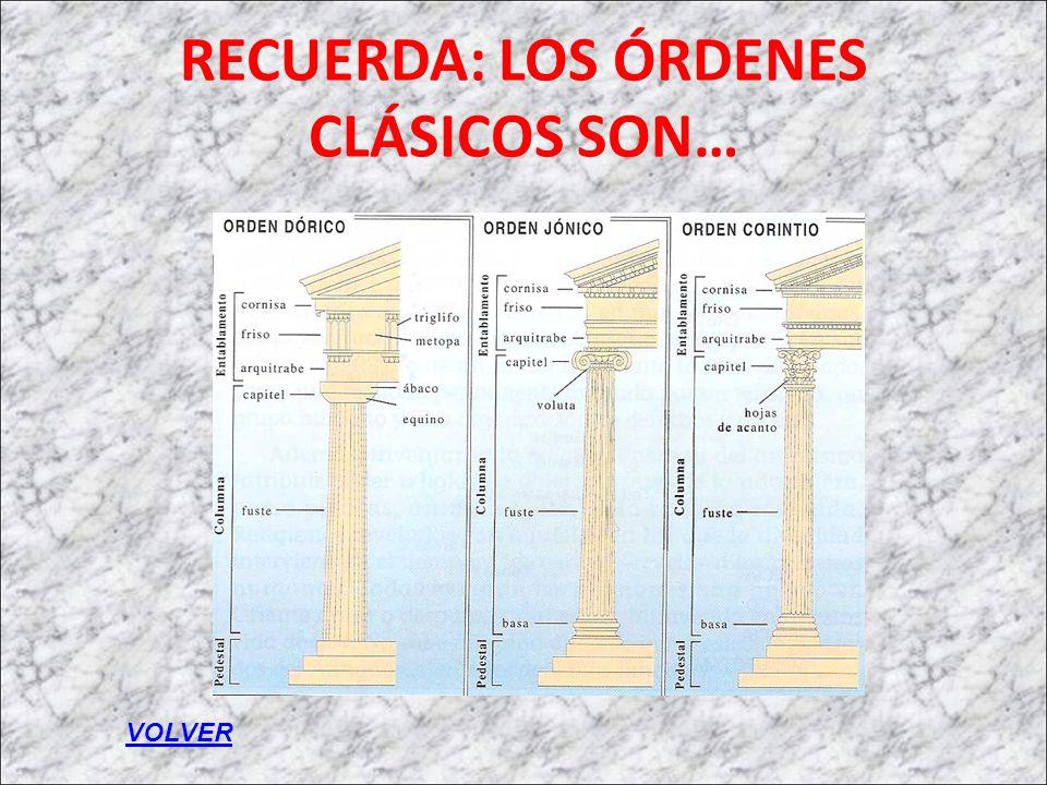RECUERDA: LOS ÓRDENES CLÁSICOS SON…