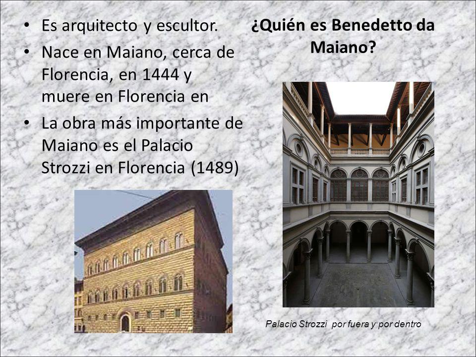 ¿Quién es Benedetto da Maiano