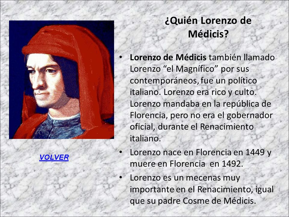 ¿Quién Lorenzo de Médicis