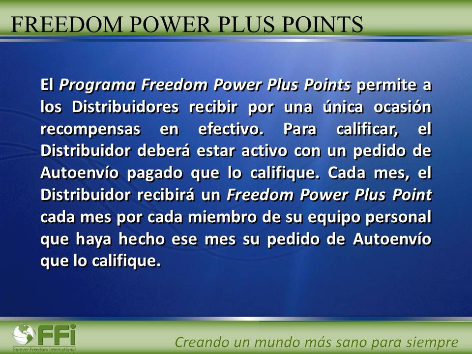 FREEDOM POWER PLUS POINTS