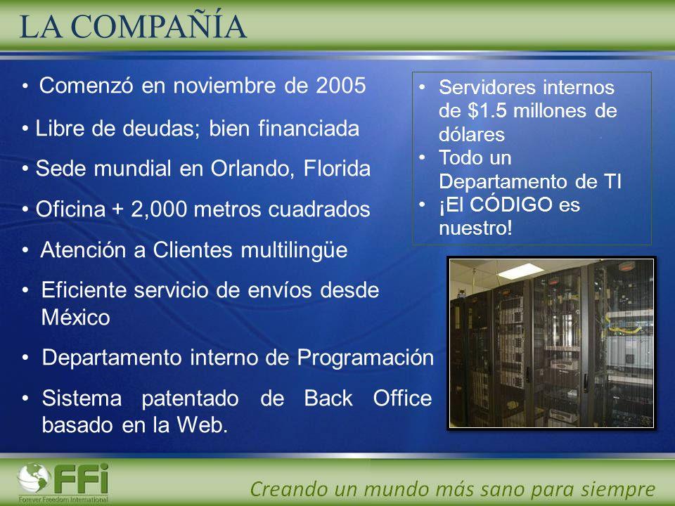 LA COMPAÑÍA Comenzó en noviembre de 2005