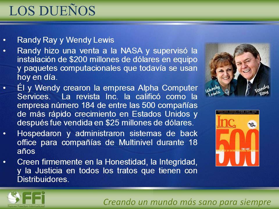 LOS DUEÑOS Randy Ray y Wendy Lewis