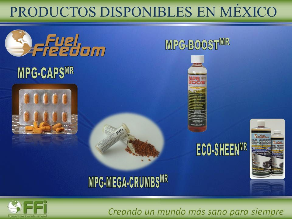 PRODUCTOS DISPONIBLES EN MÉXICO
