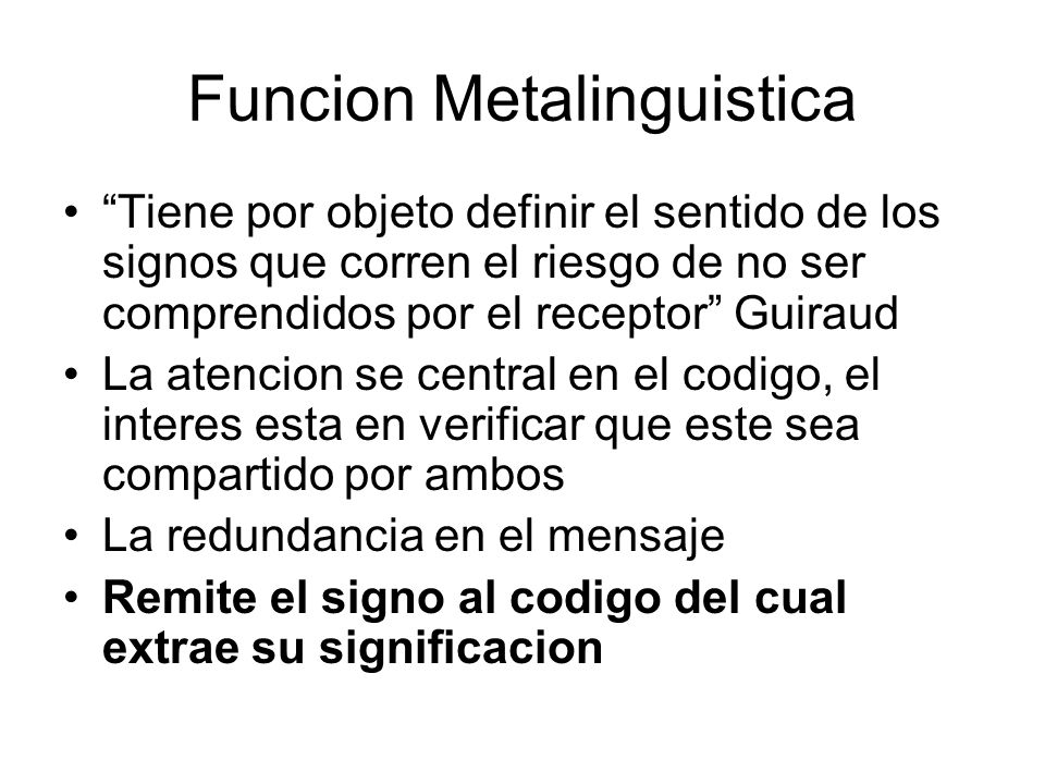 Funcion Metalinguistica