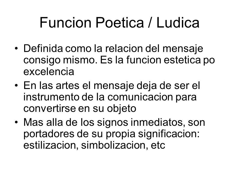 Funcion Poetica / Ludica