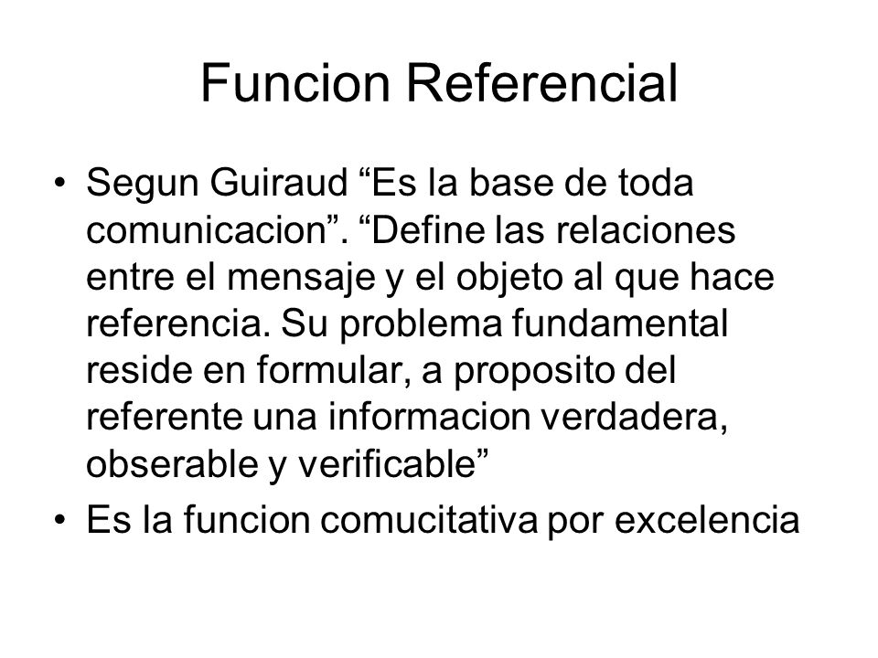 Funcion Referencial