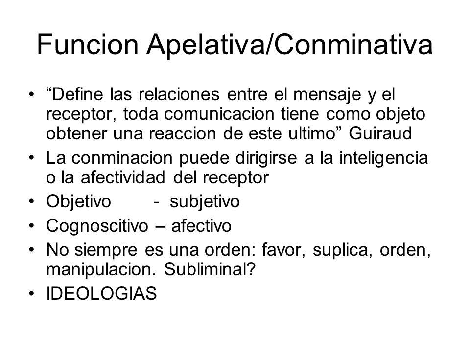Funcion Apelativa/Conminativa