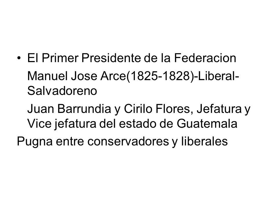El Primer Presidente de la Federacion