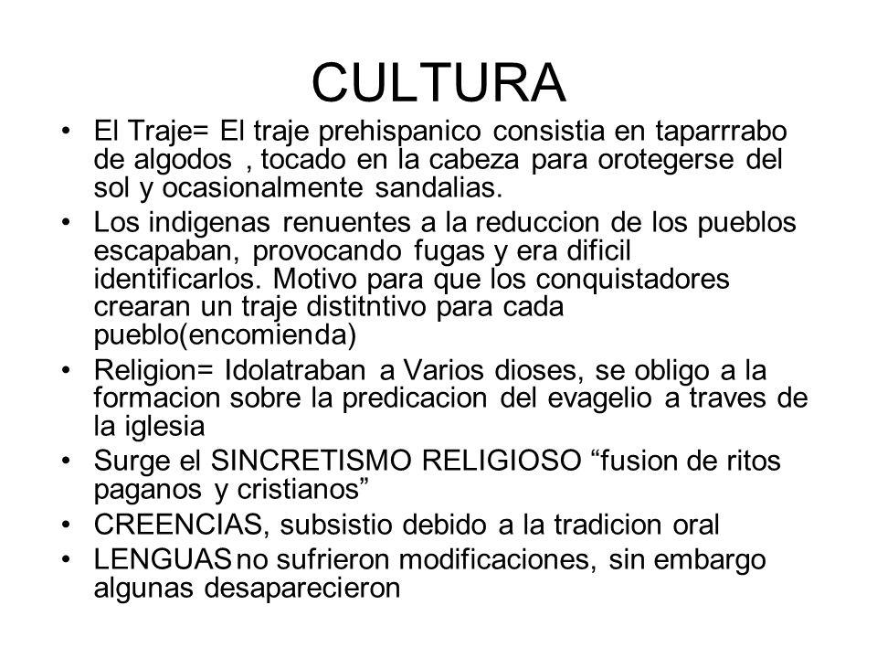 CULTURA El Traje= El traje prehispanico consistia en taparrrabo de algodos , tocado en la cabeza para orotegerse del sol y ocasionalmente sandalias.