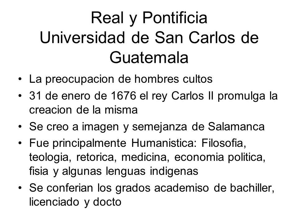 Real y Pontificia Universidad de San Carlos de Guatemala