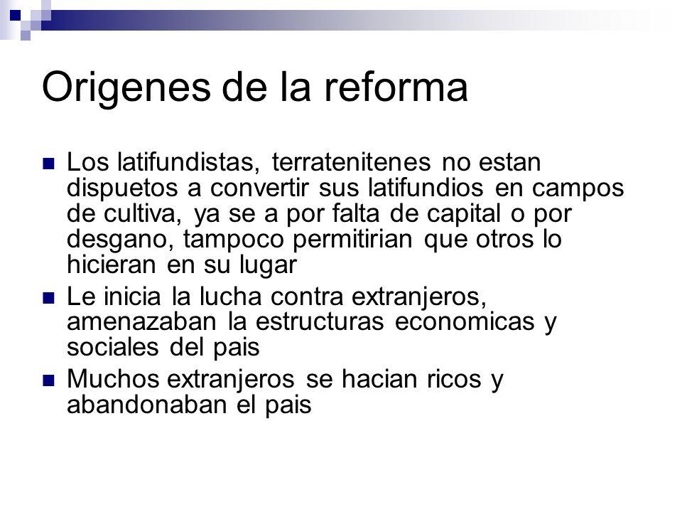 Origenes de la reforma